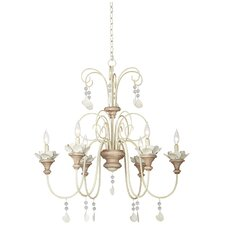 Kathy Ireland Essentials 6 Light Lanikai Beach Crystal Chandelier