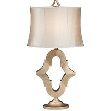 "Kathy Ireland Essentials Moroccan Mist 25"" H Table Lamp with Drum Shade"