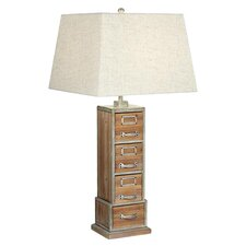 """PCL Vintage Library 33"""" H Table Lamp with Square Shade"""