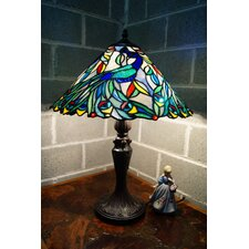"Peacock Style Tiffany 16"" Table Lamp"