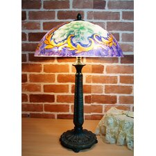 Vintage Reverse Hand Painted Table Lamp
