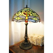 "Dragonfly Tiffany Large 16"" Table Lamp"