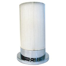 One Light Table Lamp in White/Chrome