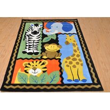 Mono Jungle Friends Rug in Multi