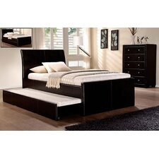 New Lecca King Single with Trundle Bed or Storage PU Leather Bed Frame