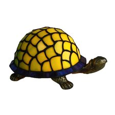 Leadlight Turtle Table Lamp in Green