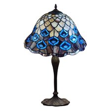 Peacock Feather Tiffany Table Lamp