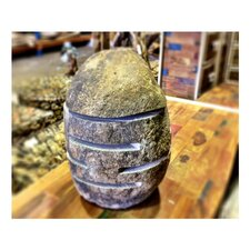 River Stone Unpolished Garden Lamp