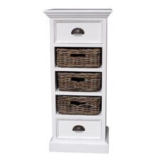 Halifax 3 Rattan Baskets Storage Unit with Recycled Timber option