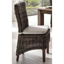 Halifax Morin Kubu Rattan Dining Chair with Cushion (Set of 2)