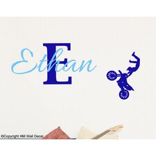Personalised Name with Bike Wall Sticker