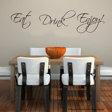 Eat Drink Enjoy DIY Quote Removable Wall Decal