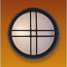 Classic Full Grid 1 Light Flush Wall Light