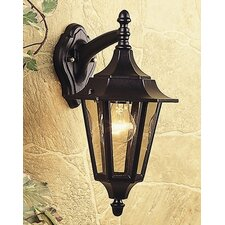 6 Panel Outdoor Wall Lantern in Black
