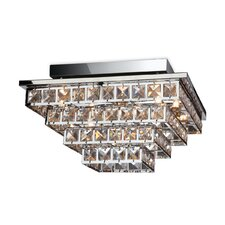 Lola 5 Light Flush Ceiling Light in Chrome