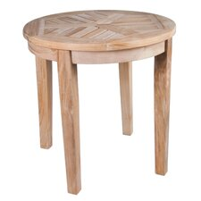 <strong>Arbora Teak</strong> Nantucket Solid Teak Round Side Table