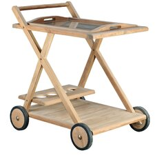 <strong>Arbora Teak</strong> Teak Serving Cart
