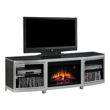 """Gotham 72"""" TV Stand with 26EF031GRP Electric Fireplace"""