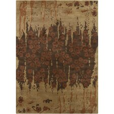 Bajrang Brown Floral Rug