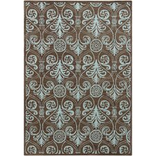 <strong>Chandra Rugs</strong> Gagan Abstract Brown Rug