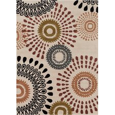 Davin Ivory Abstract Rug