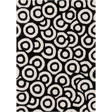 <strong>Chandra Rugs</strong> Davin Black / White Geometric Rug