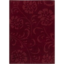 Ast Red Floral Area Rug