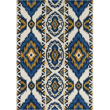 Davin White Abstract Rug