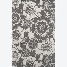 <strong>Chandra Rugs</strong> Faro Grey Floral Rug