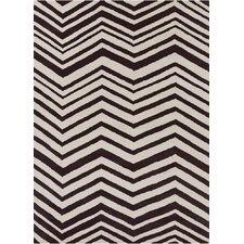 Davin Vibes Pattern Black/Ivory Area Rug