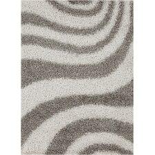 Vivid Grey/White Area Rug