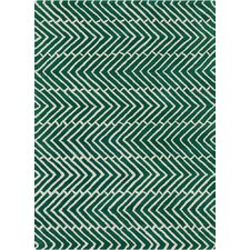 Davin Vibes Pattern Green Area Rug