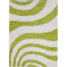 Vivid White/Green Area Rug