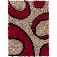 Vivid Brown/Red Area Rug