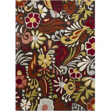 <strong>Chandra Rugs</strong> Gagan Brown Floral Rug