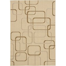 Ryan Beige Geometric Indoor/Outdoor Area Rug