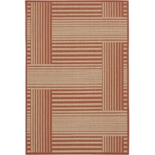 Ryan Red Geometric Indoor/Outdoor Area Rug