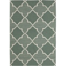 <strong>Chandra Rugs</strong> Lima Green/White Geometric Rug