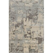 Rupec White Abstract Area Rug