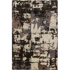Rupec Brown/Black Abstract Area Rug