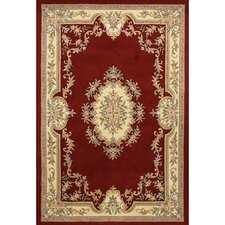 Abusson Red Area Rug