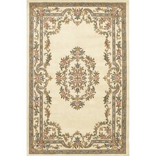 Abusson White Area Rug