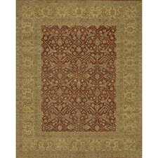 Angora Brown/Red Area Rug