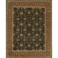 Angora Black/Red Area Rug
