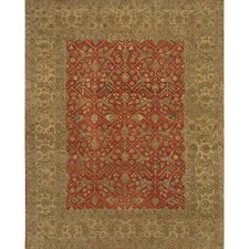 Angora Red/Tan Area Rug