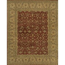 Angora Red/Brown Area Rug