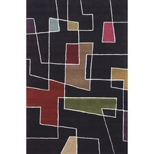 Bense Garza Black/Red Area Rug