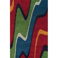 Bense Garza Red/Green Area Rug