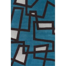 Bense Garza Blue/White Area Rug