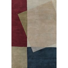 Bense Garza Tan/Red Area Rug